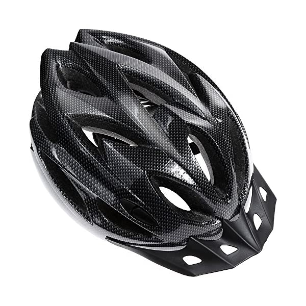 Zacro Lightweight Bike Helmet, CPSC Certified Cycle Helmet Adjustable Size for Adult with Detachable Liner with Water and Dust Resistant Bike Seat Cover