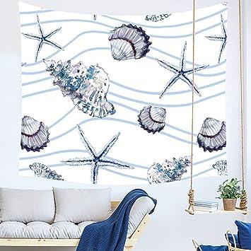 FWHA Tapiz Tapices De Animales Marinos Dormitorio Dormitorio Decoración Toallas De Playa Pinturas para El Hogar Tapicería Mantel Cortinas: Amazon.es: Hogar