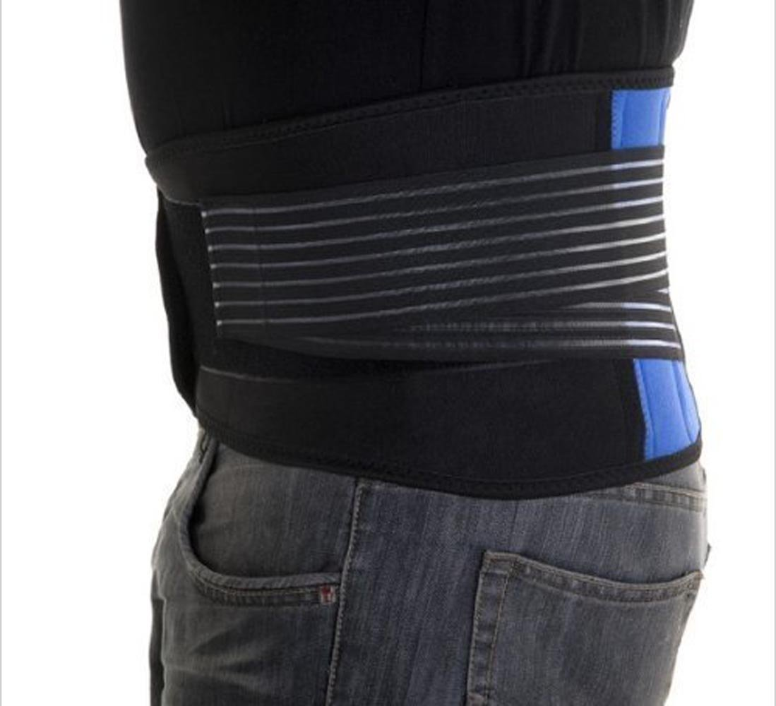 WONFAST Deluxe Neoprene Double Pull Lumbar Lower Back Support Brace Exercise Belt Waist Trainer Trimmer Belt with Dual Adjustable Straps Abdominal Binder Belly (5X-Large/54-58'') by WONFAST (Image #7)