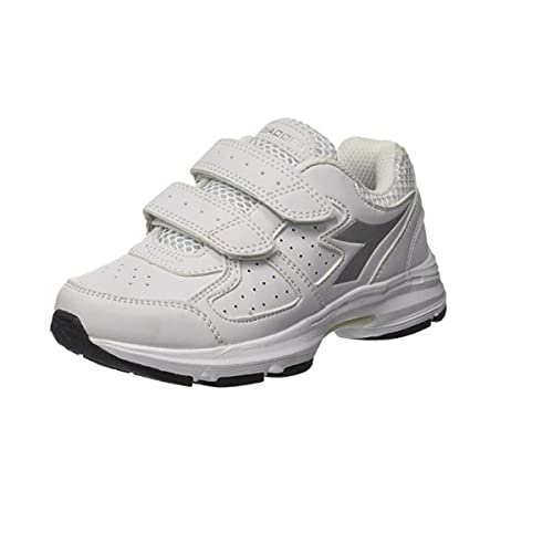 Diadora Scarpe Kids Sneakers Shape 8 SL JR in Pelle Bianca 101172076-01-C0516   Amazon.it  Scarpe e borse d62828168bb