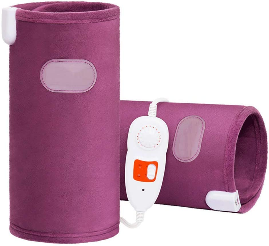 電動膝パッド、後膝アームウエストマッサージャー、電子筋肉刺激装置保温ニーブレース
