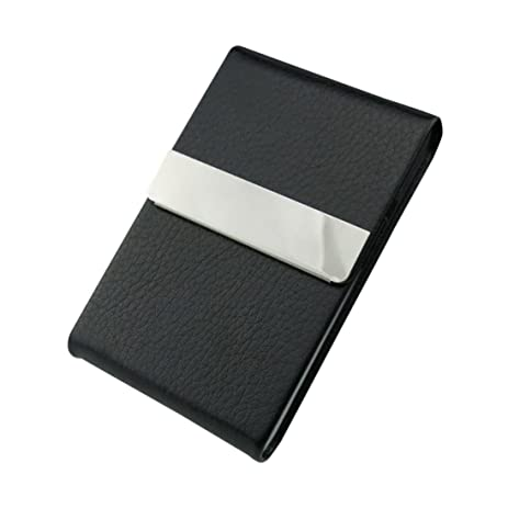 Amazon elegant business card holder sikye leather stainless elegant business card holdersikye leather stainless steel slim credit id business card case for colourmoves