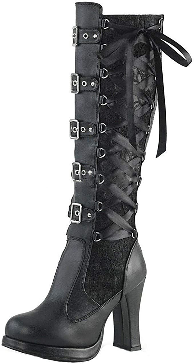 Mens Leather Black Round Toe new Over Knee Riding Boots Dance Cosplay Shoes HOT