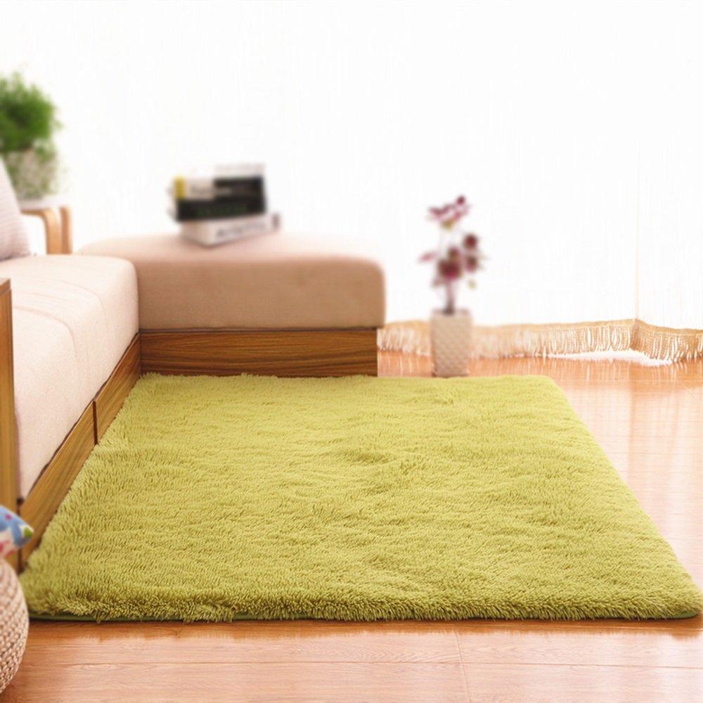 Green Washable Carpet / Living Room Sofa Tea Table Bedroom Carpet Bedside Blanket / Living Room Decorative Thickness Non-slip Carpet ( Size : 160200cm )