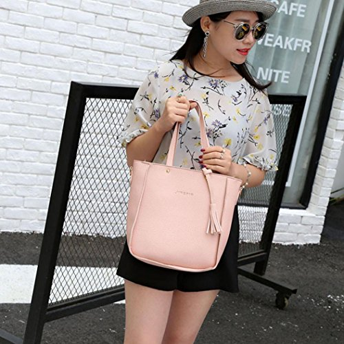 Crossbody Black Tote Handbag Four Women Women Pink Set Bags Four Shoulder one Wallet Shoulder Bag Pieces Bag set wSxqgR7