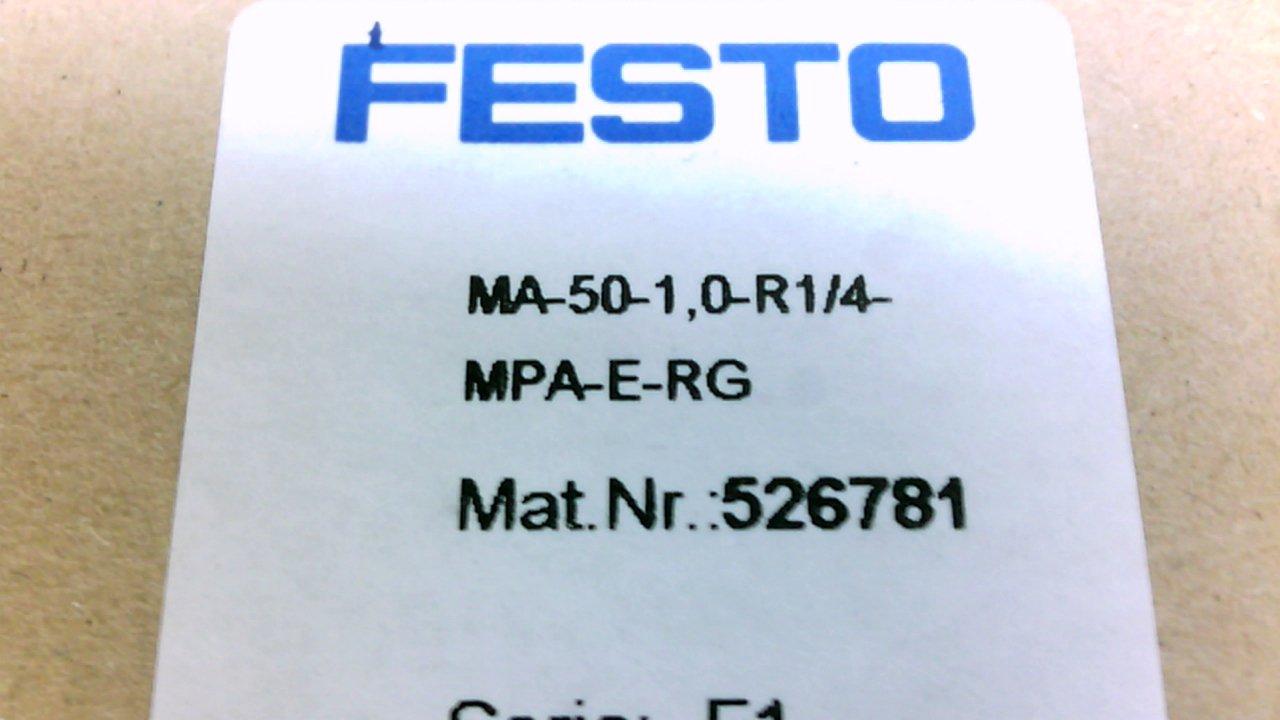 Manometer Pressure Gauge Ma-50-1,0-R1//4-Mpa-E-Rg Series F1 Festo Ma-50-1,0-R1//4-Mpa-E-Rg Series F1