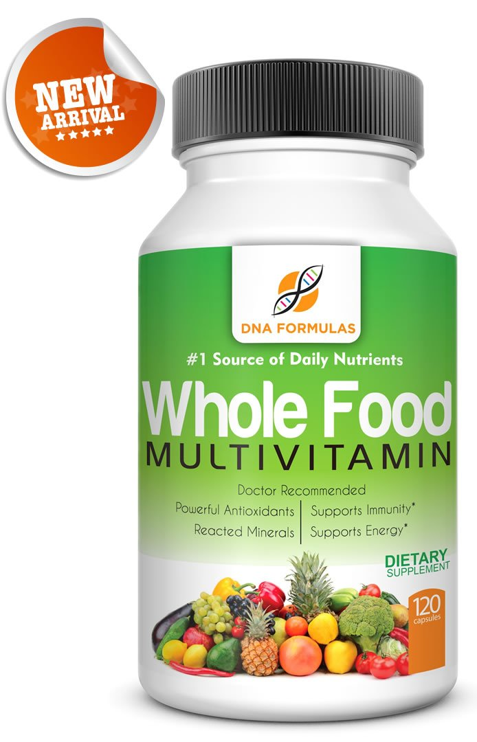 DNA Formulas Whole Food Multivitamin 120 Capsules Enhanced Bioavailable Whole Food Multivitamin For Men Women No Artificial Colors or Preservatives Activated Mineral Rich – Biotin – Vitamin D – Vitamin B12 – Folate – Vitamin C