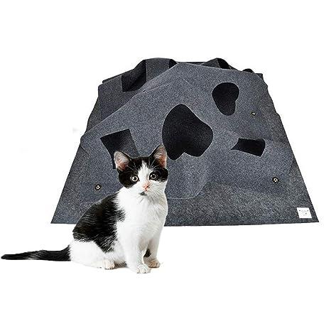 Outtybrave Almohadilla de Juego de Actividades para Gatos, Alfombra de Entrenamiento de Agilidad Plegable para