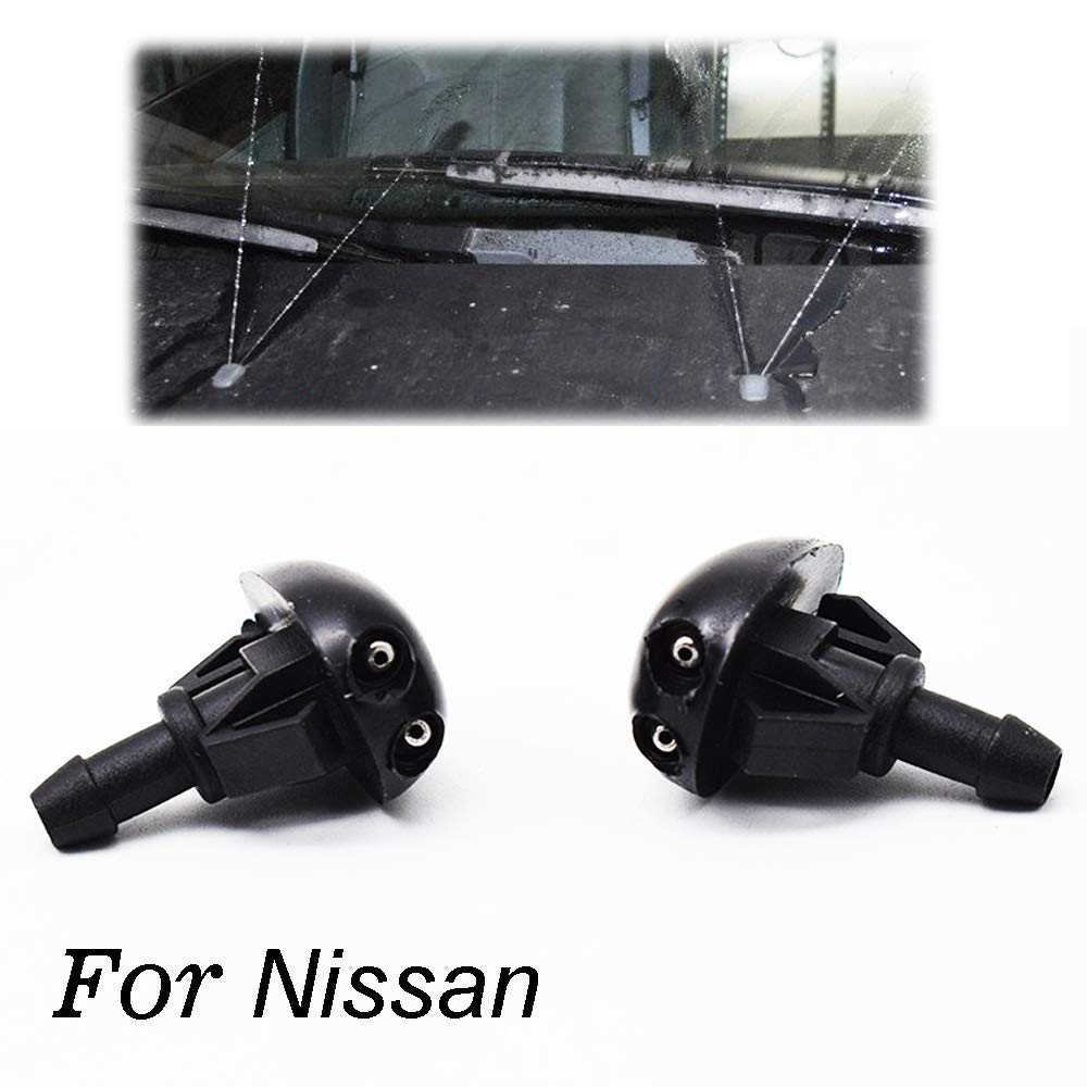 AUTOXBERT 2Pcs Front Wiper Washer Nozzles Jet For Isuzu D-Max For Nissan Altima L31 Xterra WD22 X-Trail T30 Frontier D22 Pulsar N15