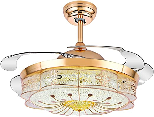 Stealth Ventilador Luces Restaurante Sala Ventilador de Techo Luces Dormitorio Ventilador Eléctrico Luces Linternas Ventilador de Hogar Luces Colgantes Calidad Garantizada 42 Intensidad Tricolor Ventiladores de techo con lámpara: Amazon.es: Hogar