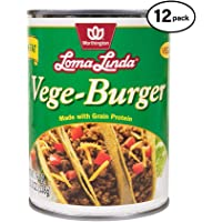 Loma Linda - Plant-Based - Vege Burger (19 oz.) (Pack of 12) - Kosher