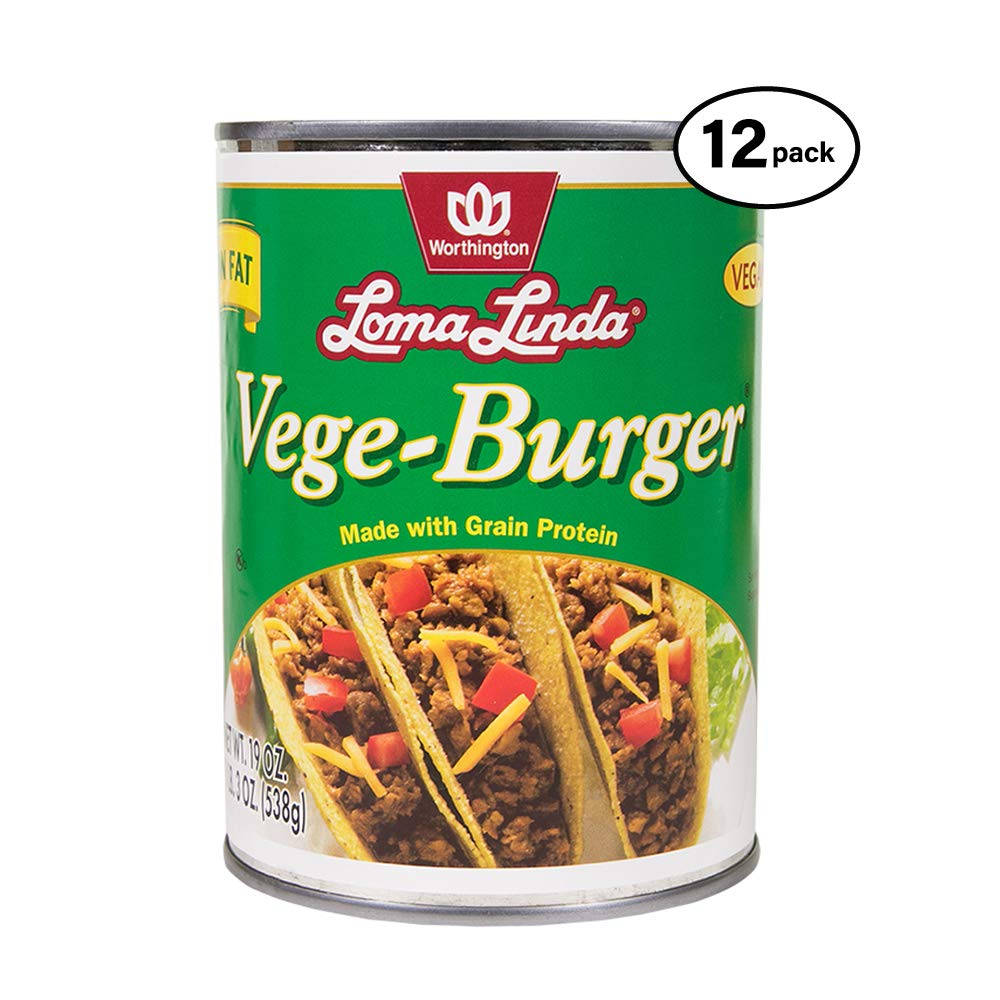 Loma Linda - Plant-Based - Vege Burger (19 oz.) (Pack of 12) - Kosher by Loma Linda