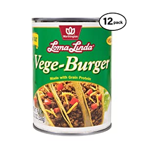Loma Linda - Plant-Based - Vege Burger (19 oz.) (Pack of 12) - Kosher