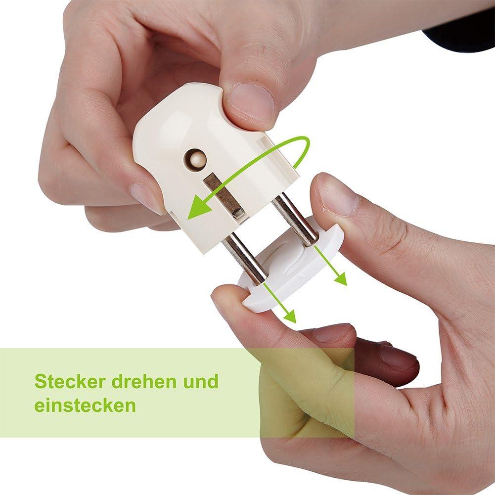Offgridtec Talla:20 St/ück unidades Protector infantil para enchufes con mecanismo de giro