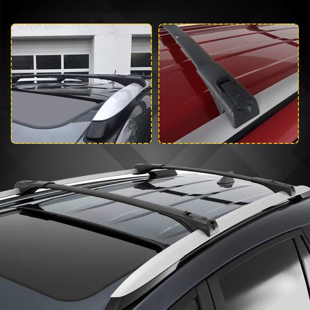 LED Kingdomus Cross Bars Roof Racks for Toyota RAV4 Aluminum Roof Top Cross Bar Set with Locks for Roof Carrier Rack Luggage Rack Crossbars for 2013-2018 Toyota RAV4