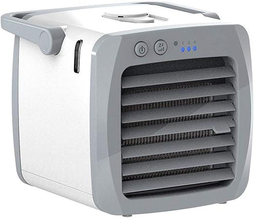 JOYKK Mini acondicionador de Aire Acondicionado Humidificador portátil purificador de Aire Enfriador de Aire de Espacio Personal Ventilador para Office Home Car - Blanco: Amazon.es: Hogar