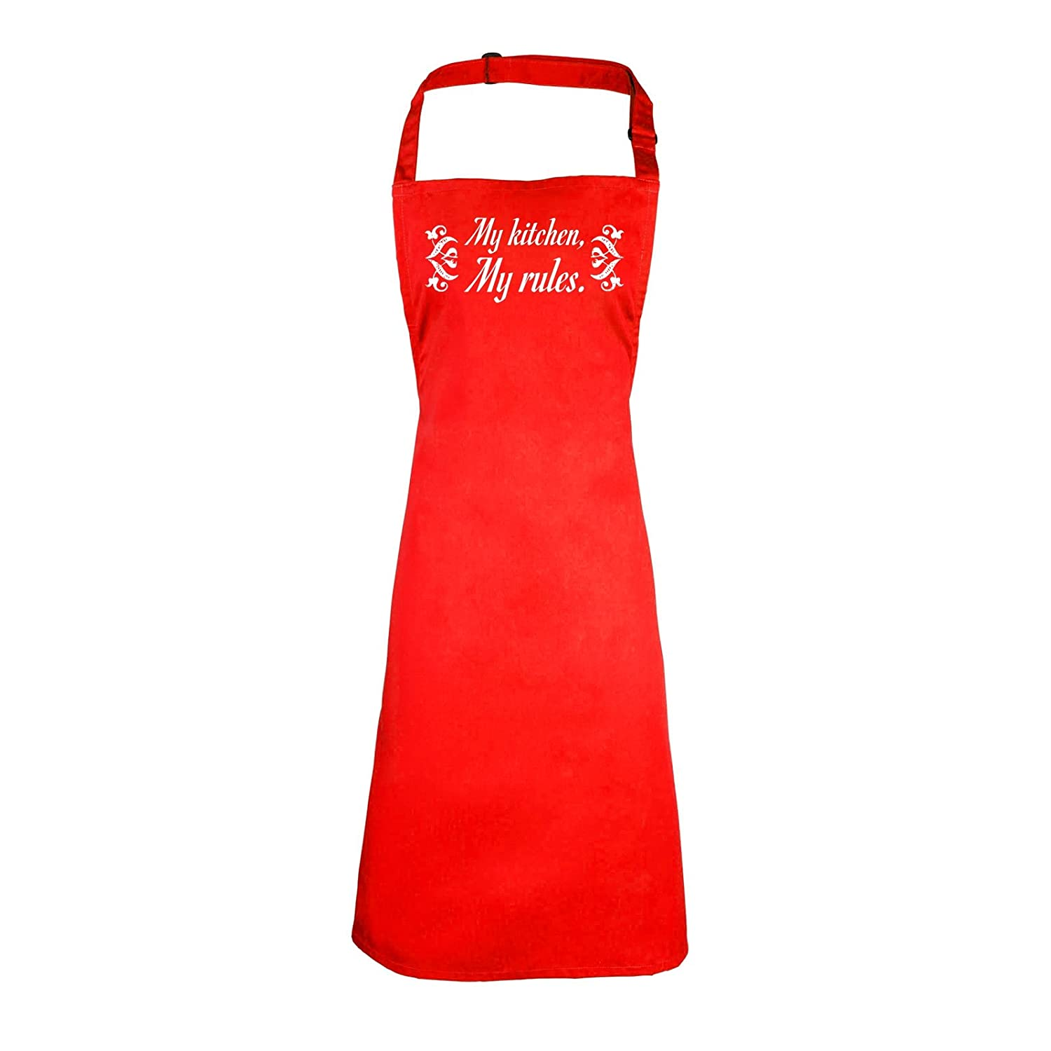123t Aprons MY KITCHEN MY RULES (BLACK) NEW PREMIUM HEAVYWEIGHT ...