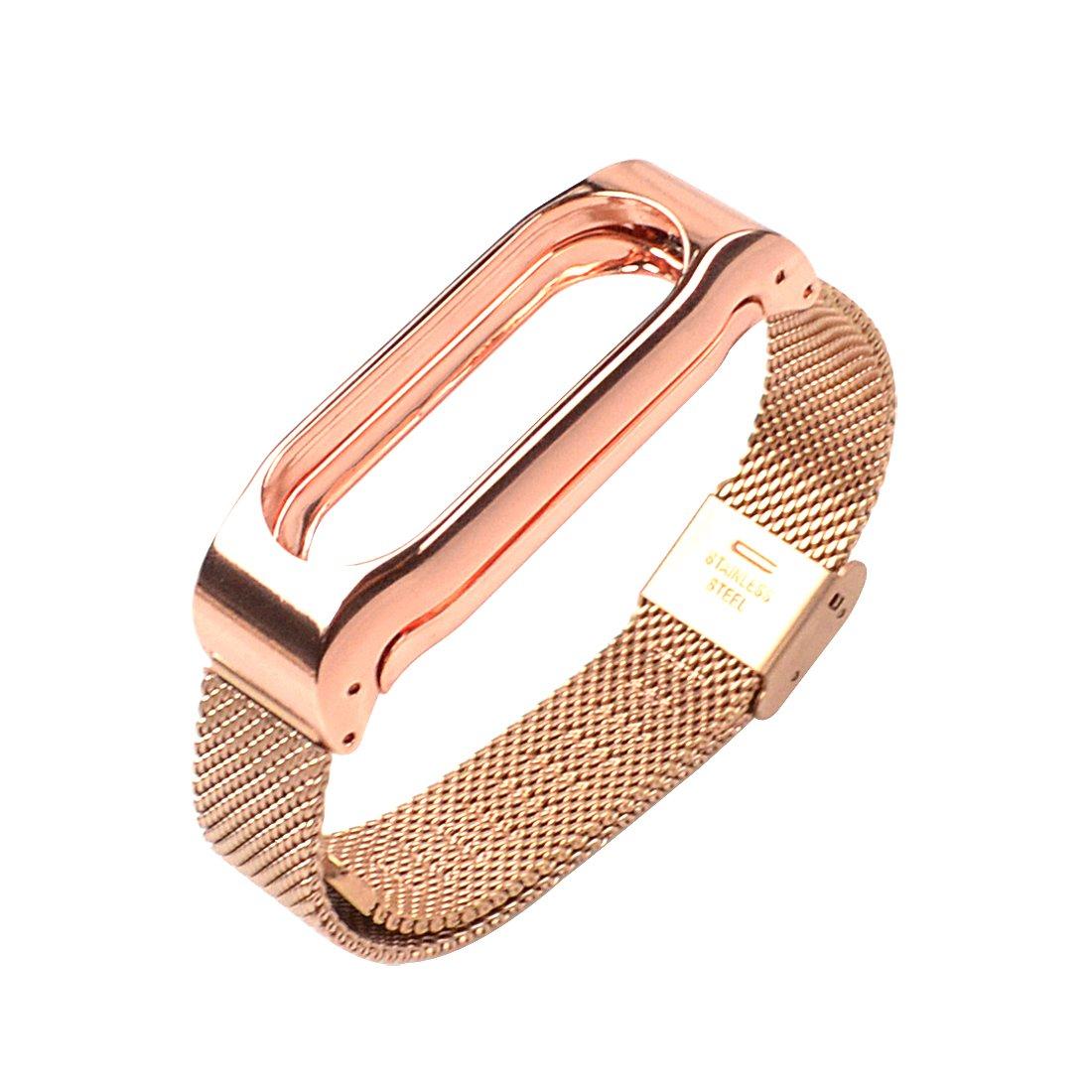 Starcrafter Elegant Schn Rostfreier Stahl Metallisch Xiaomi Mi Band 2 Armband Smartwatch Ersatzarmband Fr Wireless Zubehr Gold