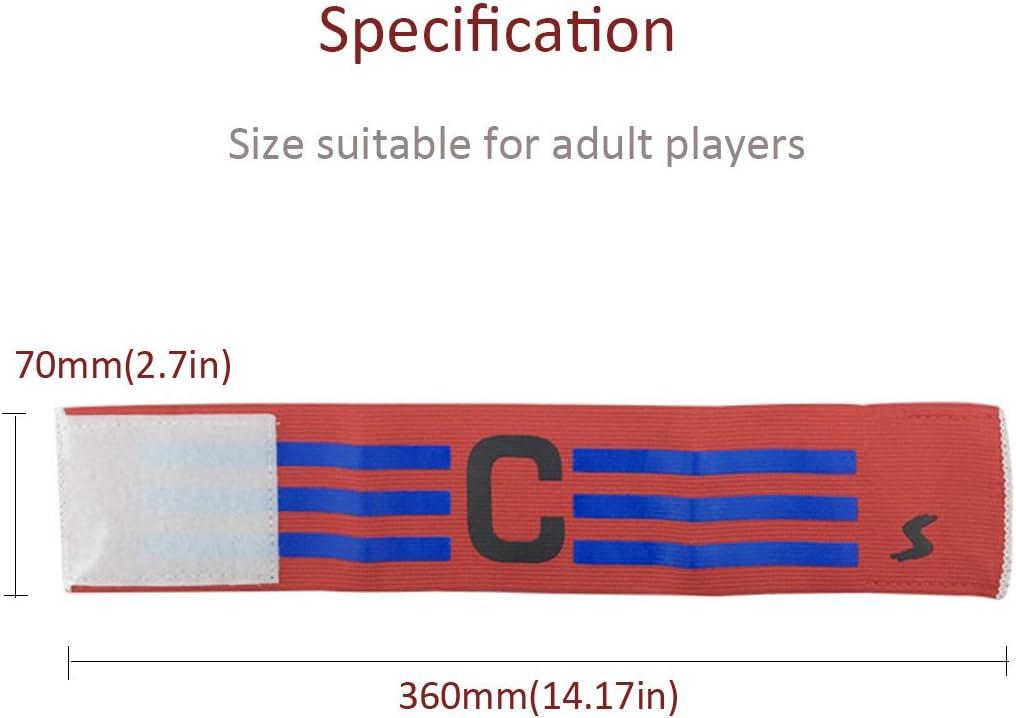 Apto para Varios Deportes como el f/útbol y Rugby Etc Velcro para tama/ño Ajustable F/útbol Brazalete el/ástico 7 Piezas Adesugata f/útbol Capit/án Brazalete