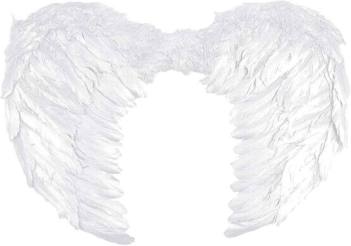 MSemis Alas de Ángel Plumas Blancas Disfraz Ángeles Hadas Infantil Alas Brillantes Doradas Disfraces Pajaritos Acceosios Cosplay Fairy Angel Wings