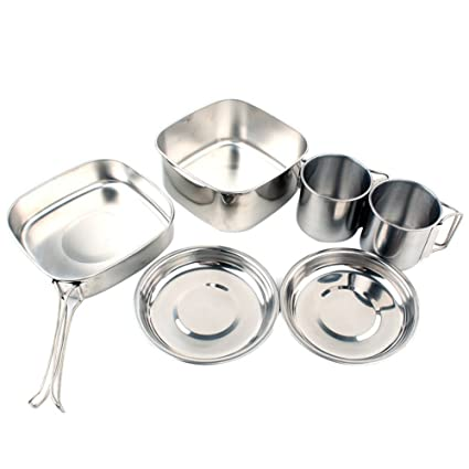 OUTAD Camping Cookware Picnic Pot Camping Cookware Picnic Pots and Pans Set BE