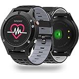 Activity Tracker NO.1 F5 smartwatch Android in Offerta-IP68 impermeabile,schermo a colori,GPS con Monitoraggio Attività e Profili Sport,Bluetooth Fitness Tracker,monitor cardiaca. (grigio)