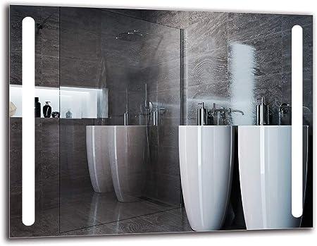 Specchio a Muro Specchio LED Premium Bianco Caldo 3000K Specchio per Bagno Specchio con Illuminazione Dimensioni dello Specchio 40x40 cm ARTTOR M1CP-25-40x40 Pronto per Essere Appeso