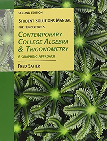 student solutions manual for hungerford s contemporary college rh amazon com Abstract Algebra Boods Abstract Algebra Proofs