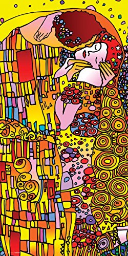 Culturenik Howie Green The Kiss (Gustav Klimt) Decorative Psychedelic Pop Modern Art Poster Print ()