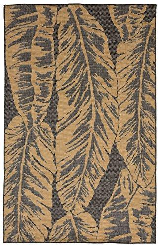 Slate Banana (Liora Manne TERS8277082 2770/82 Banana Leaf Slate Rugs, 7'10