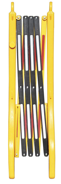 Rellenable con agua F/ácil almacenamiento y transporte debido a sus reducidas dimensiones una vez cerrada Valla extensible de pl/ástico de polipropileno amarilla y negra 2- Vallas