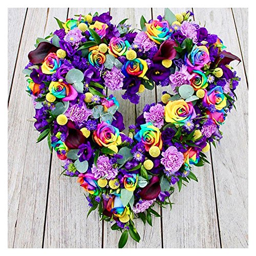Asiproper Full Drill 5D DIY Floral Heart Diamond Painting Embroidery Cross Stitch Kit