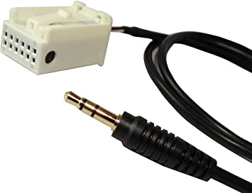 AERZETIX: Adaptador cable Jack 3.5mm AUX para radio de coche C4326