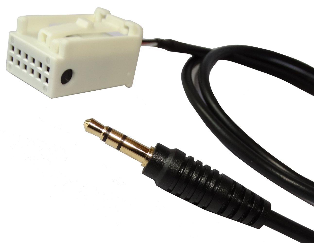 Aerzetix: Adaptateur Câble AUX vers Jack 3.5mm pour autoradio