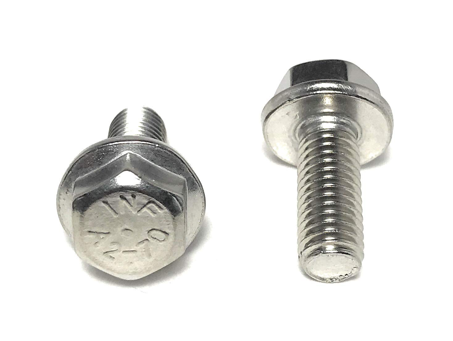 Bolt Base 8mm A2 Stainless Steel Flanged Hex Head Bolts Flange Hexagon Screws DIN 6921 M8 x 40-5