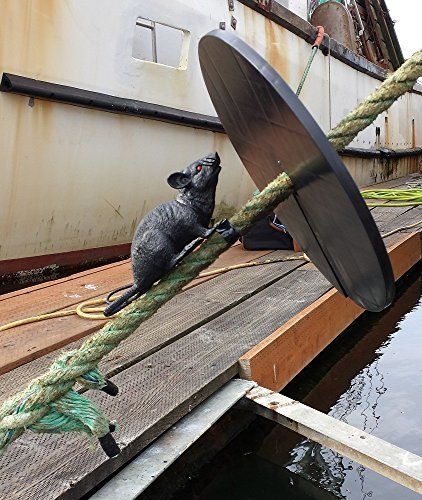 15-in Black Rat Guards prevent rats and mice from climbing aboard your boat  or in your house  Shields easily attach on boat mooring lines or home