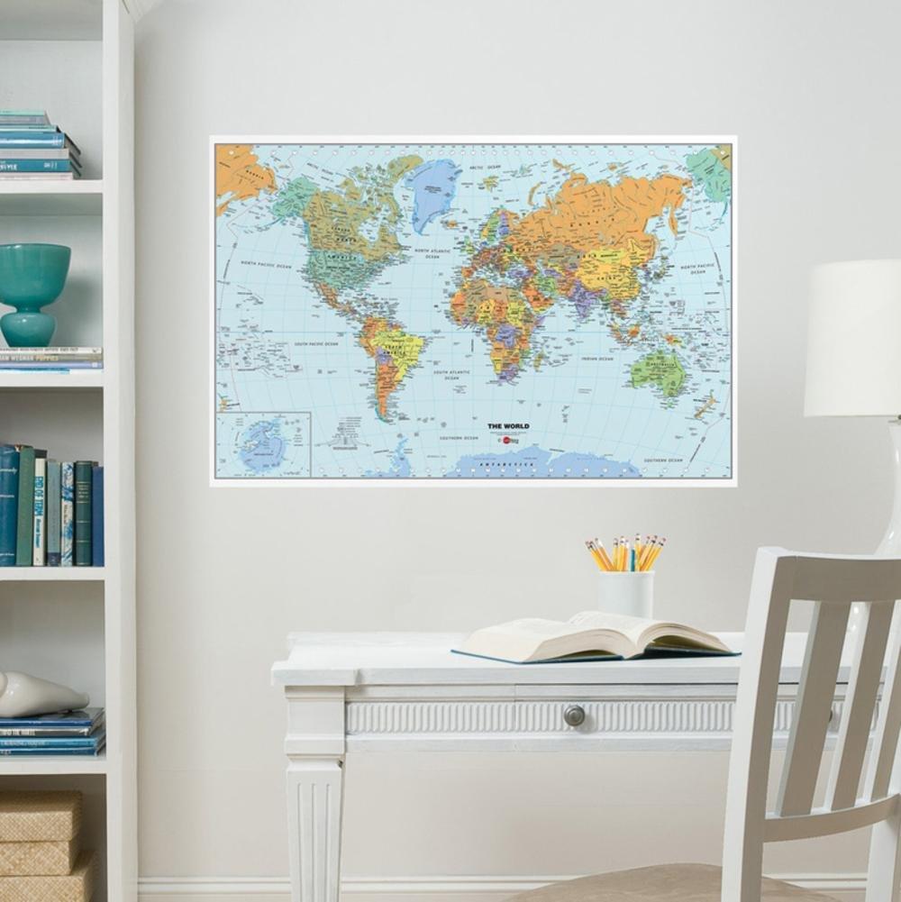Amazon.com : WPXWPE99074 - WallPops World Dry Erase Map Decal ...