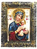 Del Perpetuo Socorro Our Lady of Perpetual Help Portrait Photo Picture Frame Mother of Perpetual Help Pendant (24 Inch)