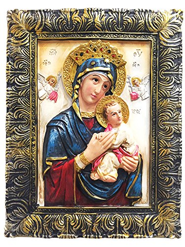 Del Perpetuo Socorro Our Lady of Perpetual Help Portrait Photo Picture Frame Mother of Perpetual Help Pendant (24 Inch) by Love's Gift Inc. (Image #2)