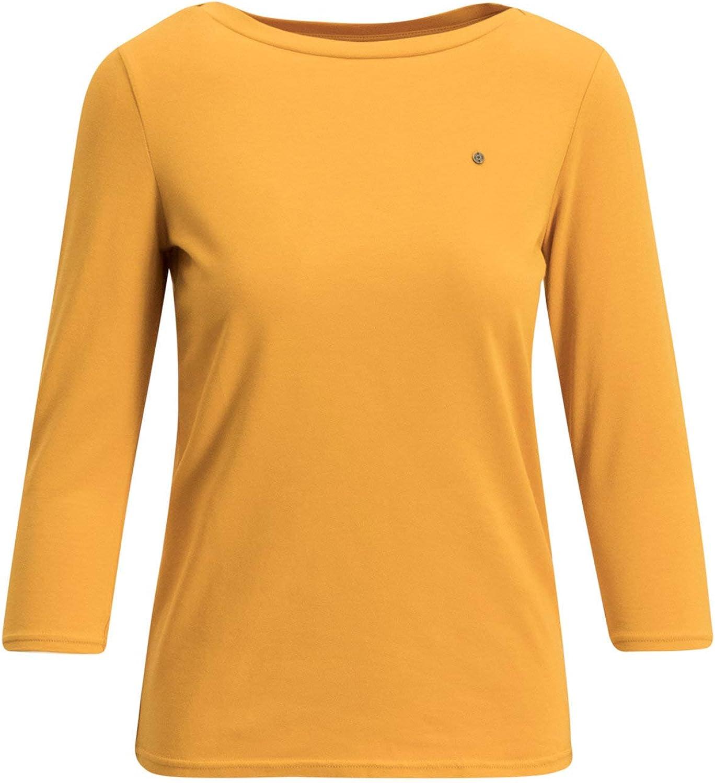 Blutsgeschwister Damen Kurzarm T-Shirt breton heart tee shirt Carré-Ausschnitt