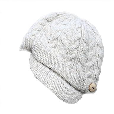 981e83aa8dd Brooklyn White Peak Cable Hat by Irish Erin Knitwear at Amazon Women s  Clothing store
