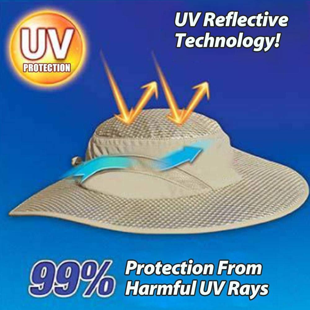 Kangrui Sommer Sonnenhut UV-Schutz Hut Sonnencreme K/ühlung Klimaanlage Deckel Ice Hat Outdoor-Schutz f/ür Damen Herren