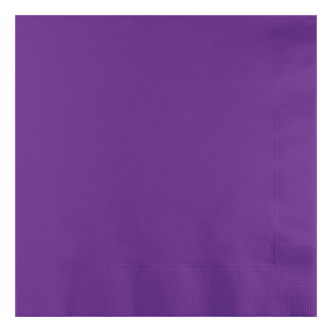 Creative Converting 25Count 3-Ply 1/4 Fold Dinner Napkins, Amethyst