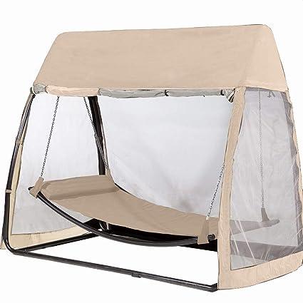 Amazon Com Abba Patio Outdoor Canopy Cover Hanging Swing Hammock