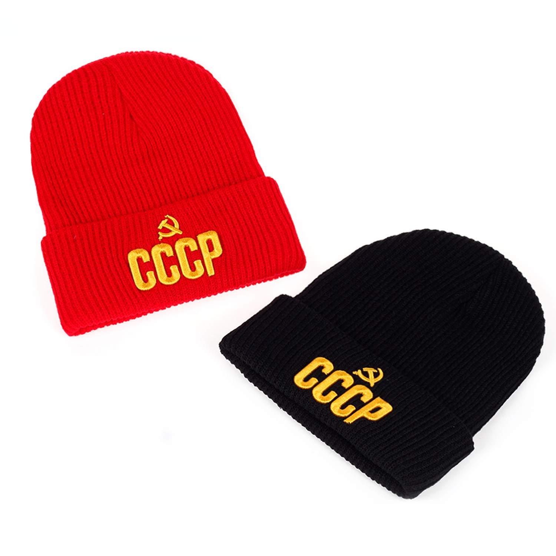 GordonKo Winter Warm Hat Red Baseball Cap Man and Woman Baseball Cap and Hat Beanies