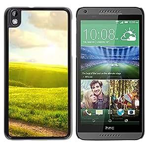"""For HTC DESIRE 816 , S-type Naturaleza Campos Verdes"""" - Arte & diseño plástico duro Fundas Cover Cubre Hard Case Cover"""
