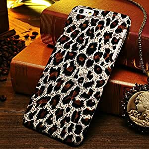 """Leopard Skins Print Pc Case For Iphone 6 Plus 5.5"""" Inch Mobile Phone Back Cover Retro Cloth Hard Phone Back Cover Brown-brown"""