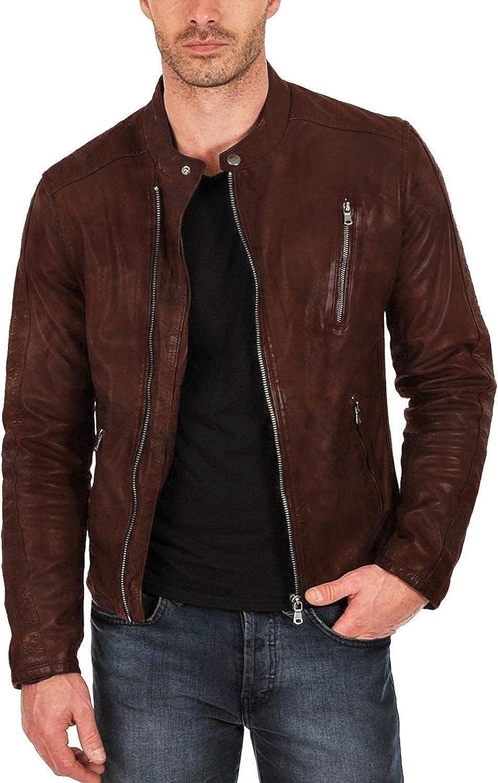 Laverapelle Mens Genuine Lambskin Leather Jacket Black, Classic Jacket 1501159