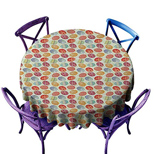 familytaste Easter,Round Tablecloth D 54