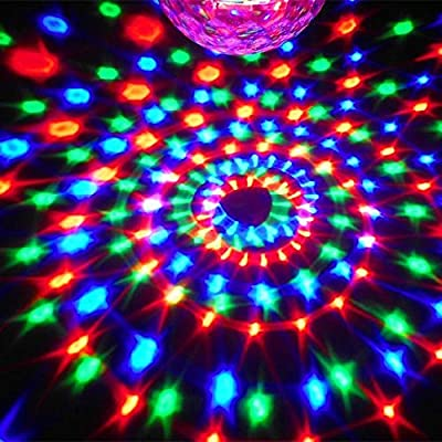 EconoLed® 6 LED Color Changing Disco Dj Stage Lighting LED RGB Crystal Magic Ball Effect Light DMX Light KTV Party